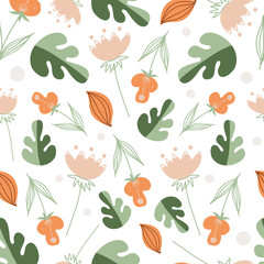 Seamless pattern. Vector illustration.Nice illustration for notebook cover, book, wallpaper, fabric, textile,texture, postcard, scrapbook, valentin's day, Mother day, poster, tape or other design