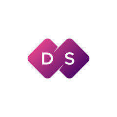 two letter ds diamond rounded logo