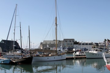 le port de Saint-Vaast-la-Hougue dans le Cotentin,Manche,Normandie