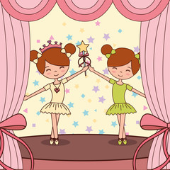 beautiful ballerinas ballet cartoon character