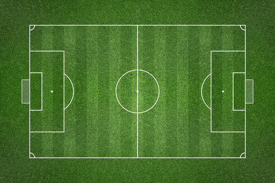 Soccer Grass Field with Chalk Lines