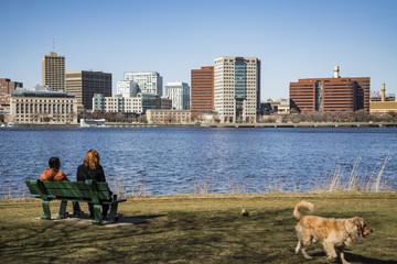 Boston city skyline