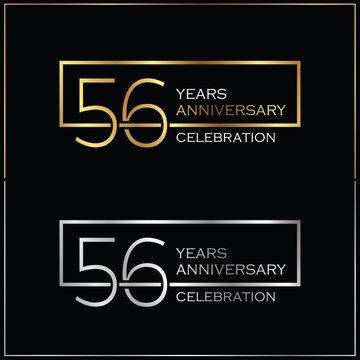 56th years anniversary celebration background