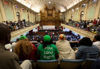 People listen as CRC hold public hearings regarding expropriation of land in Pietermaritzburg