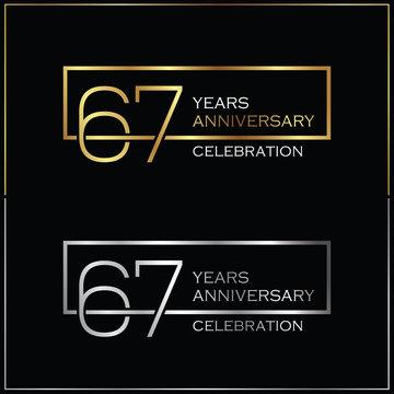 67th years anniversary celebration background