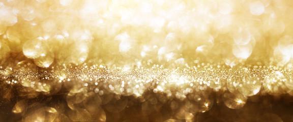 Festive golden background Fotomurales