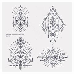 Bohemian Indian Mandala print. Vintage Henna tattoo style
