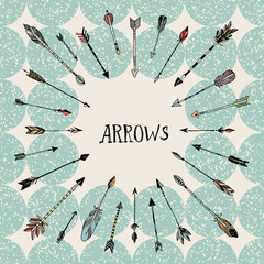 Decorative hand drawn arrows
