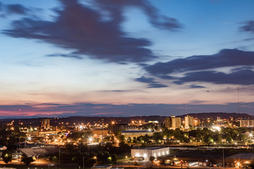 Night scenics of Knoxville Tennessee in the summer of 2018
