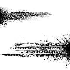 Two ink blots tires