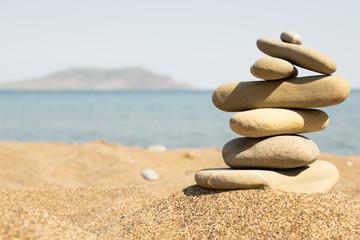 stone, landscape, sky, sea, background, beach