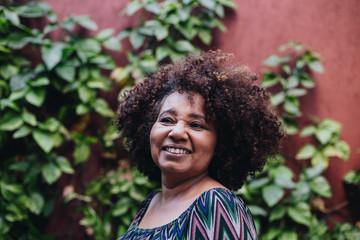 Portrait of smiling woman