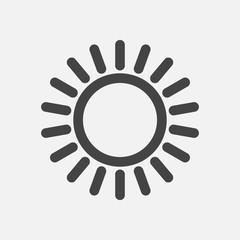 The sun icon. Flat sun icon