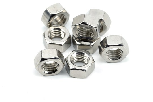 Stainless steel nut for mechanical work
