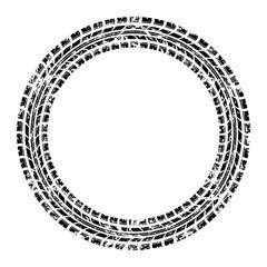 Circle grunge tire track