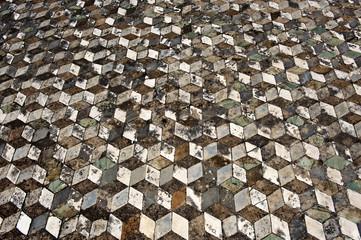 Mosaik mit optischer Täuschung, 3-D-Effekt, Haus des Fauns, Casa del Fauno, Ausgrabung Pompeji, Antike, Provinz Neapel, Napoli, Kampanien, Campagna, Italien, Italia