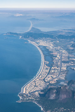 Aerial view of Barra da Tijuca