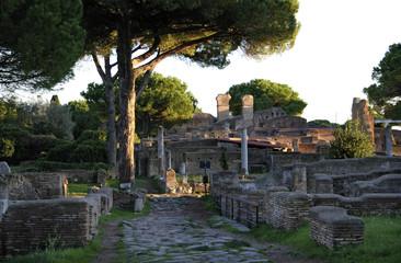 Ostia Antica, abendliche Lichtstimmung