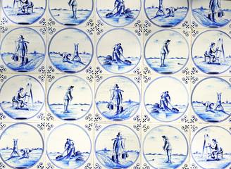 Typical blue delft tiles