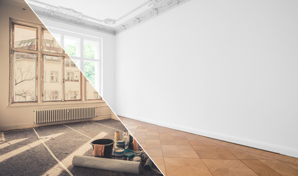 renovation, apartment refurbishment, room modernization concept