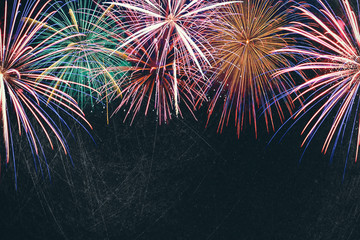 Beautiful firework display for celebration ,Brightly Colorful Fireworks