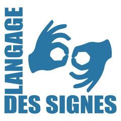 Logo langage des signes.