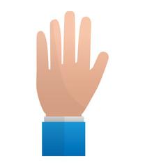 hand showing five fingers image vector illustration