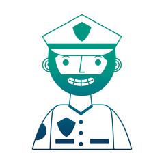 police man in uniform character portrait vector illustration gradient design