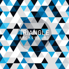 Blue Modern Triangle Background