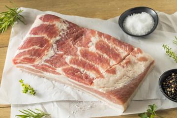 Wall Mural - Raw Organic Pork Belly Meat