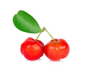 Barbados cherry, Malpighia emarginata, from central of Thailand.