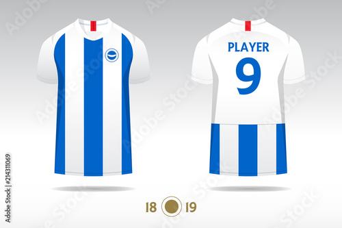 Soccer Jersey Football Kit T Shirt Sport Template Design For