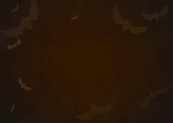 Halloween border for design bat background. Vector illumination