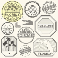 Florida state theme stamps