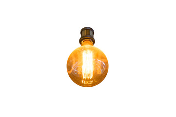 Decorative light Bulb in isolate background