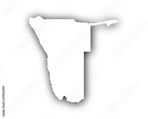 Karte Namibia Download.Karte Von Namibia Mit Schatten Stock Image And Royalty Free Vector