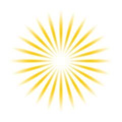 Sonne oder Sonnenschein als Vektor auf einem weißen isolierten Hintergrund