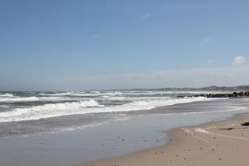 Beaches in Vorupør, Denmark.