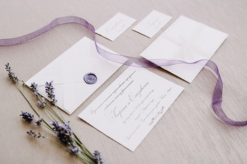 Provence invitations to the wedding