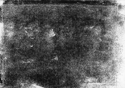 A High Resolution Scan Of Black And White Distressed Lino Print Texture Ideal For