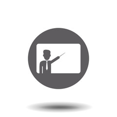 Vector image teacher icon.