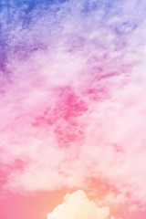 sun and cloud background pastel colored
