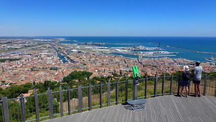 Blick auf Sete (Cette) France, Frankreich