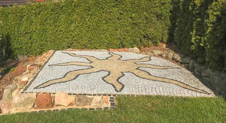 Stern Mosaik Im Garten Deko