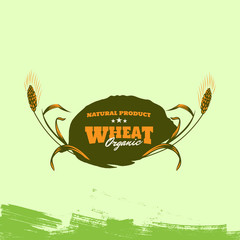 Retro Grain wheat logo concept, Agriculture wheat Logo Template icon.