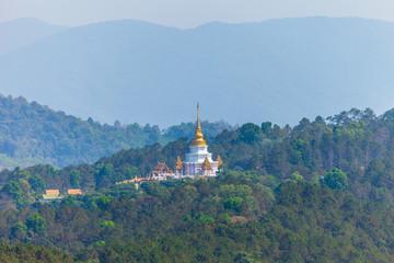 Wat Santikhiri Temple in Mae Salong, nothern Thailand.Srinakarin Sathit Maha Santi Khiri Pagoda at Doi Mae-salong Chaing RaiThailand.