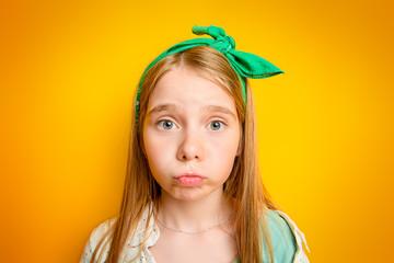 emotional child girl