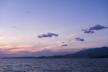 Cloud above the sea