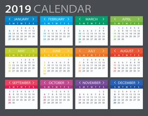 2019 Calendar - illustration