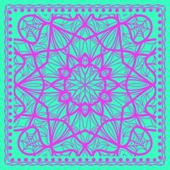 Mandala floral pattern. vector illustration